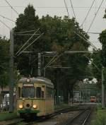 t4-raststatt-alt-71-77-neu-354-356-359/909/triebwagen-71-bei-einer-charterfahrt-zwischen Triebwagen 71 bei einer Charterfahrt zwischen Mannheim Lange-Rötter-Straße und Uniklinikum.